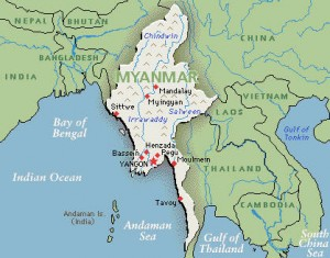 Myanmar - Mianma map
